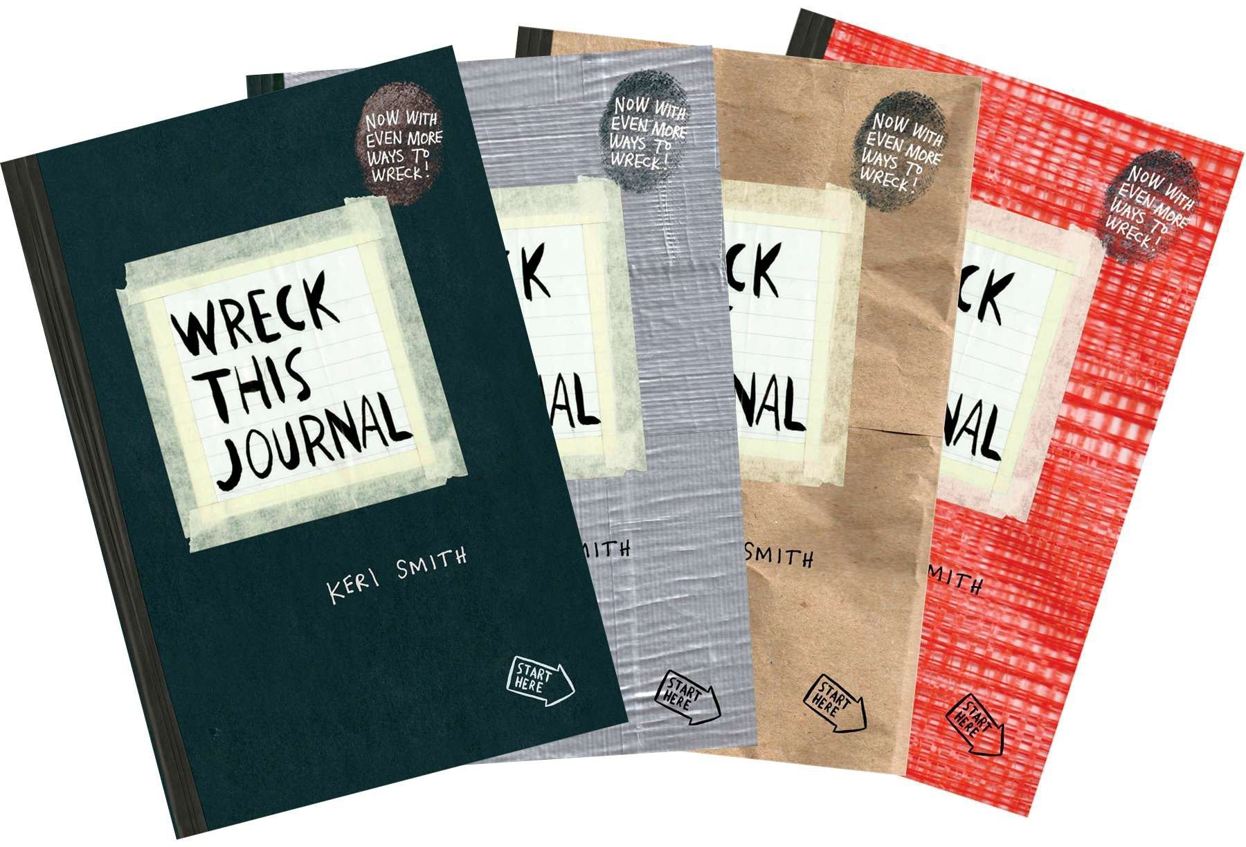 black Wreck This Journal Everywhere By Keri Smith 144 Pages English Original Book Wreck This Journal expanded Ed Free Shipping