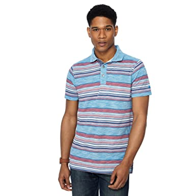 4dbe3abb5b Mantaray Men Blue Birdseye Stripe Polo Shirt S  Mantaray  Amazon.co.uk   Clothing