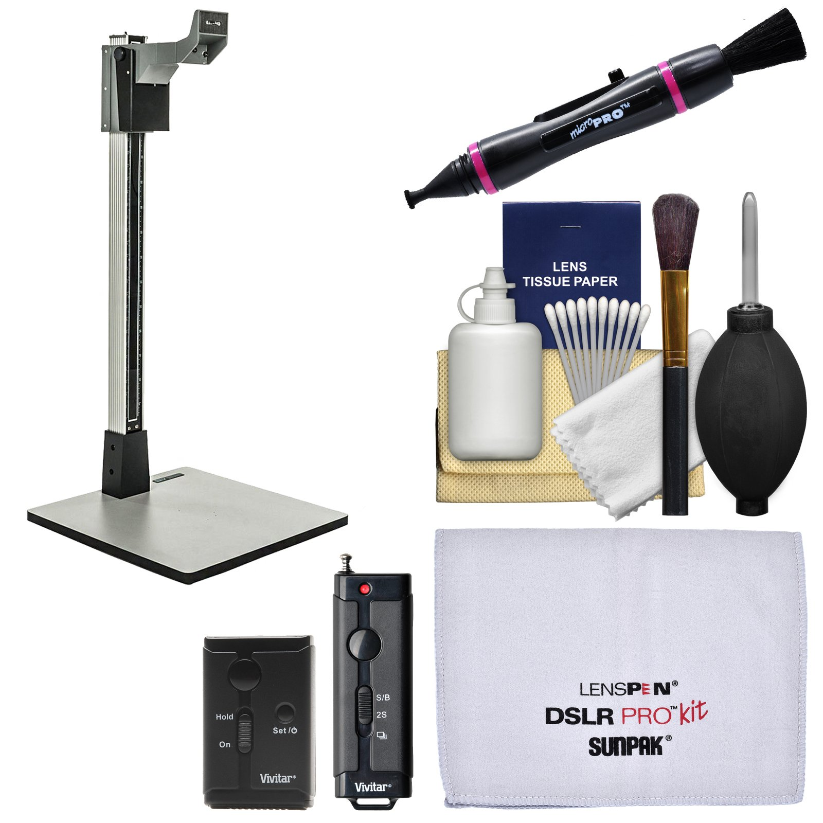 Smith-Victor 36'' CS36 Pro-Duty Copy Stand with Shutter Release Remote + Cleaning Kit