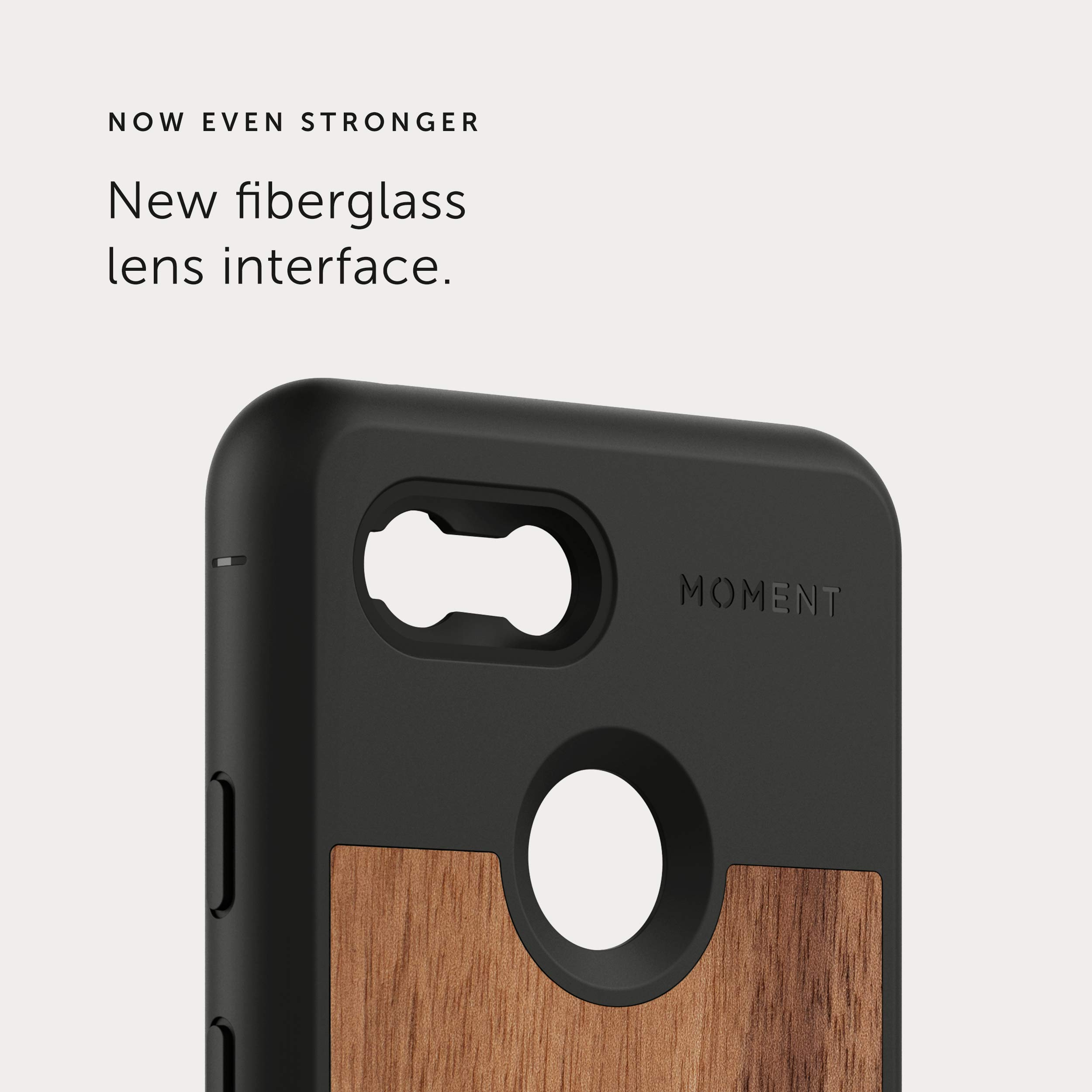 Pixel 3 Case || Moment Photo Case in Walnut Wood - Thin, Protective, Wrist Strap Friendly case for Camera Lovers.