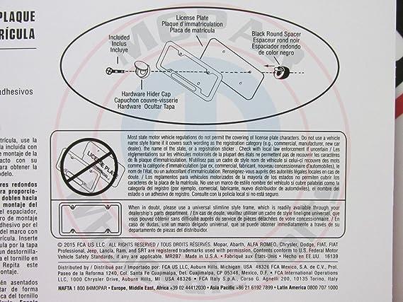 Amazon.com: Dodge Mopar Polished Logo License Plate Frame - 82214766 ...