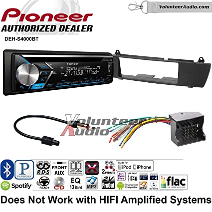 Amazon Volunteer Audio Pioneer Dehs4000bt Double Din Radio. Volunteer Audio Pioneer Dehs4000bt Double Din Radio Install Kit With Bluetooth Cd Player. Wiring. Pioneer Deh S4000bt Wiring Diagram At Scoala.co