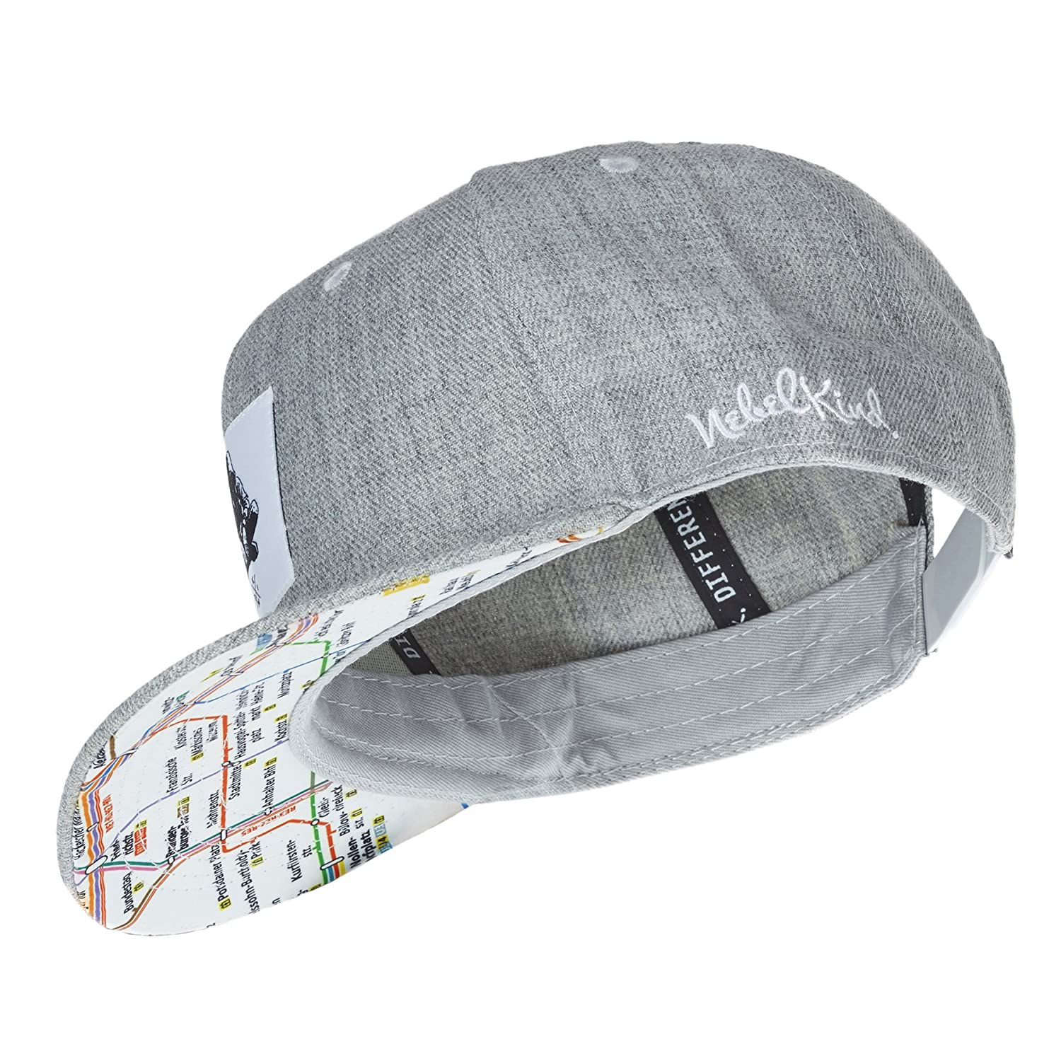 Nebelkind Snapback Cap Grey with Original Berlin Subway//Metro Network OneSize Unisex