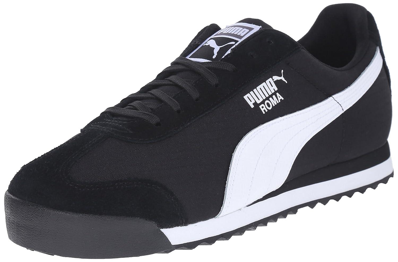 Pumas Roma En Daim Noir Et Blanc eZhBt