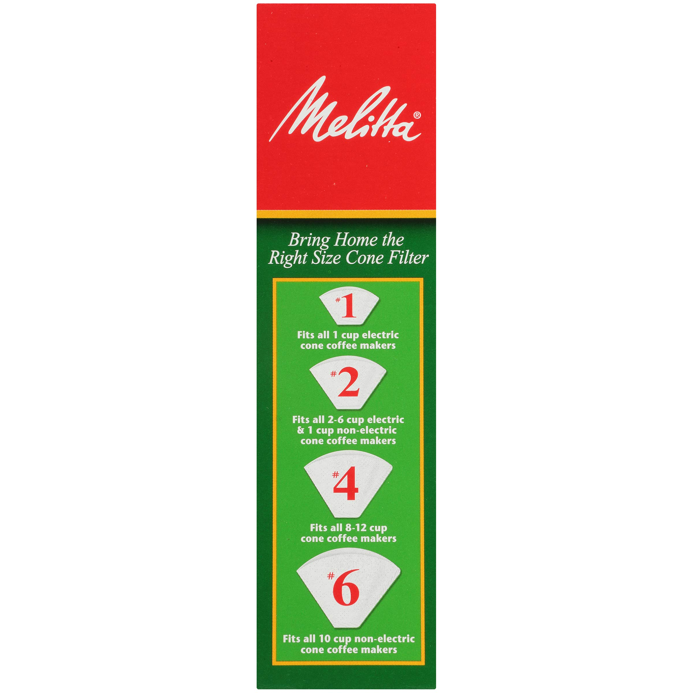 Melitta (624102C) #4 Super Premium Cone Coffee Filters, White, 100 Count (Pack of 12) Replacement Coffee Maker Filters by Melitta (Image #2)