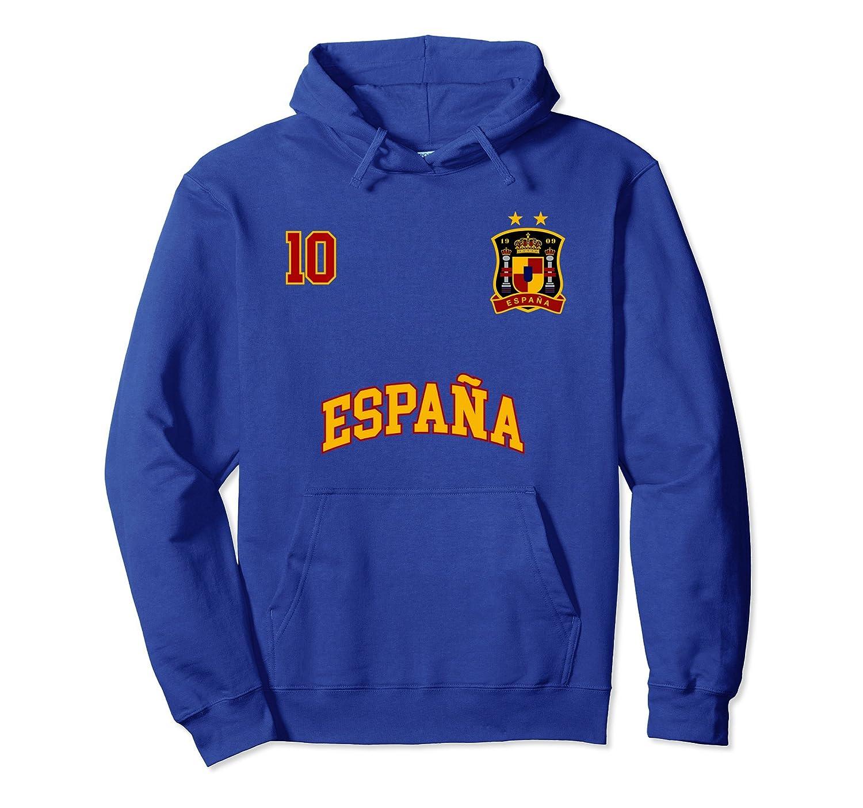 Spain Hoodie No. 10 Spanish Flag Shirt Soccer Futbol Espana-alottee gift