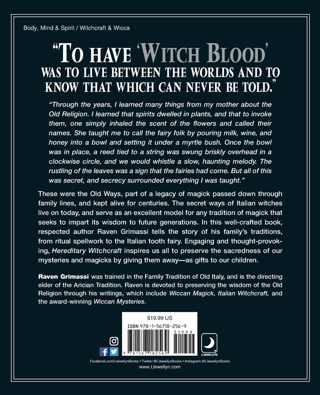 Hereditary Witchcraft Secrets Of The Old Religion Raven Grimassi