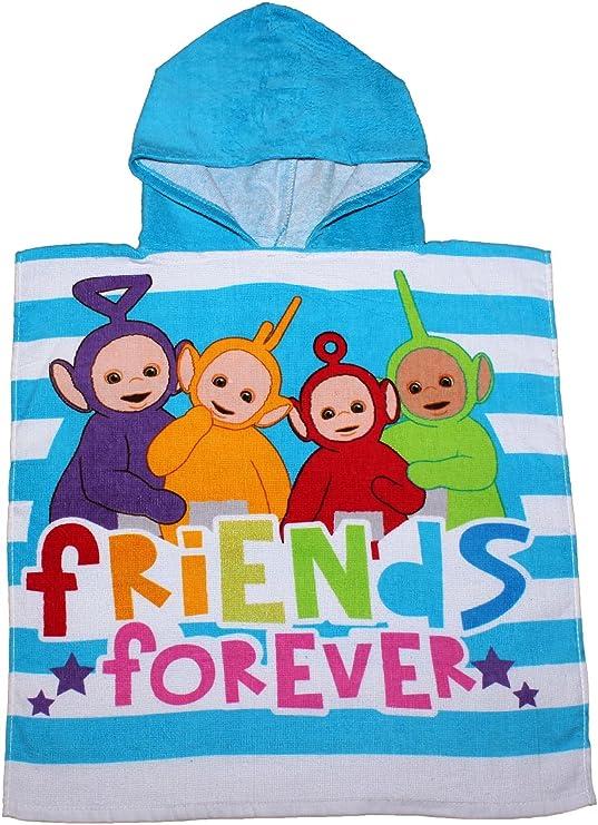 Teletubbies amigos para siempre azul Poncho con capucha para ni/ños por BestTrend