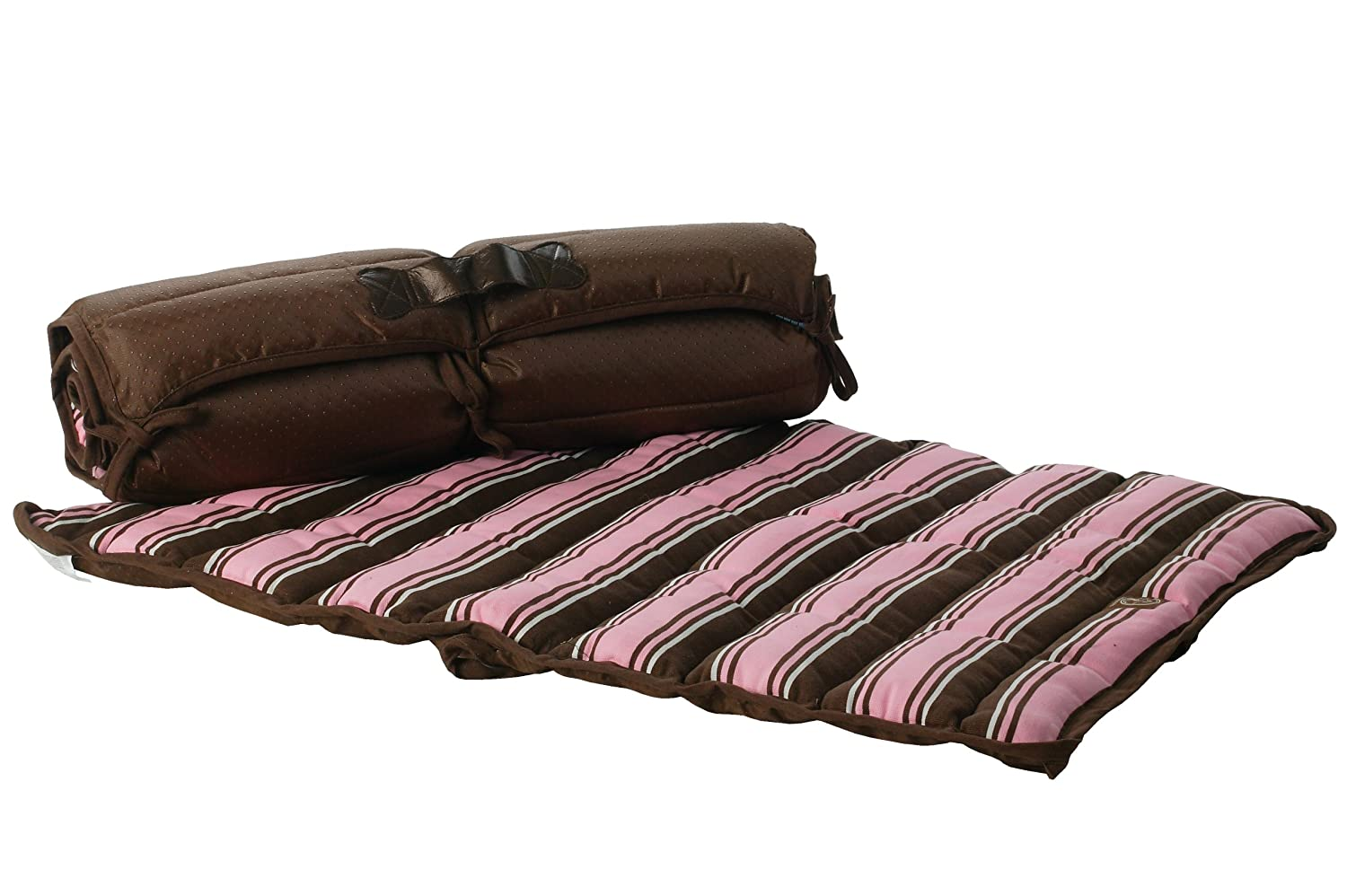 One for Pets 1802-Pink-S Roll-Up Travel Bed, Small, Pink
