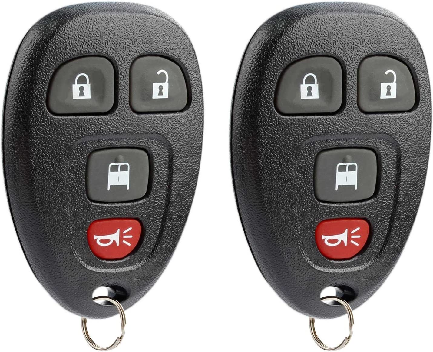 fits 2007-2014 Chevy Express/GMC Savana Keyless Entry Remote Key Fob 20877108, Set of 2