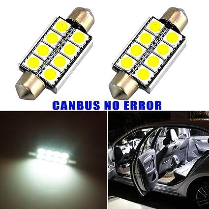 Hrph 2pcs error blanco libre cartel del coche LED domo mapa ...