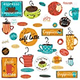ROOMMATES RMK1740SCS Café Peel and Stick Wall Decals