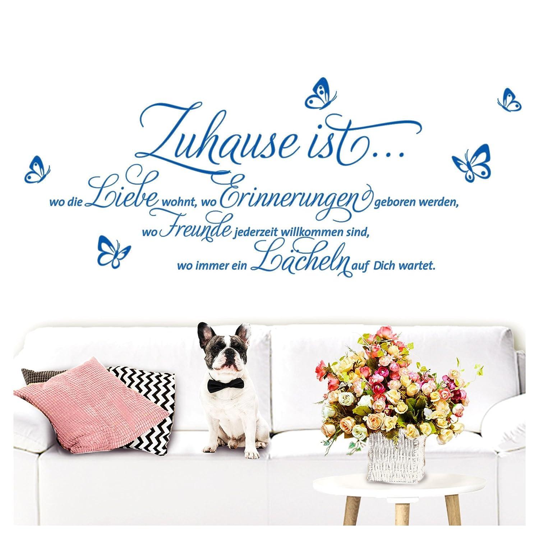 Inspirierend Wandtattoo Zuhause Ist Foto Von Grandora Sprüche Und Zitate I Azurblau (bxh)