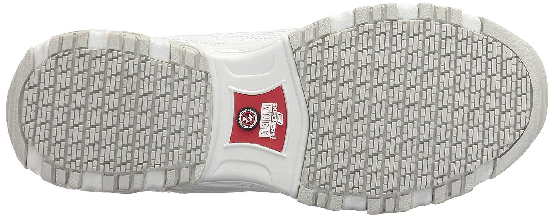 Skechers for Work Women's D'Lites Slip-Resistant Marbleton Shoe B01KW7L53G 9.5 B(M) US|White