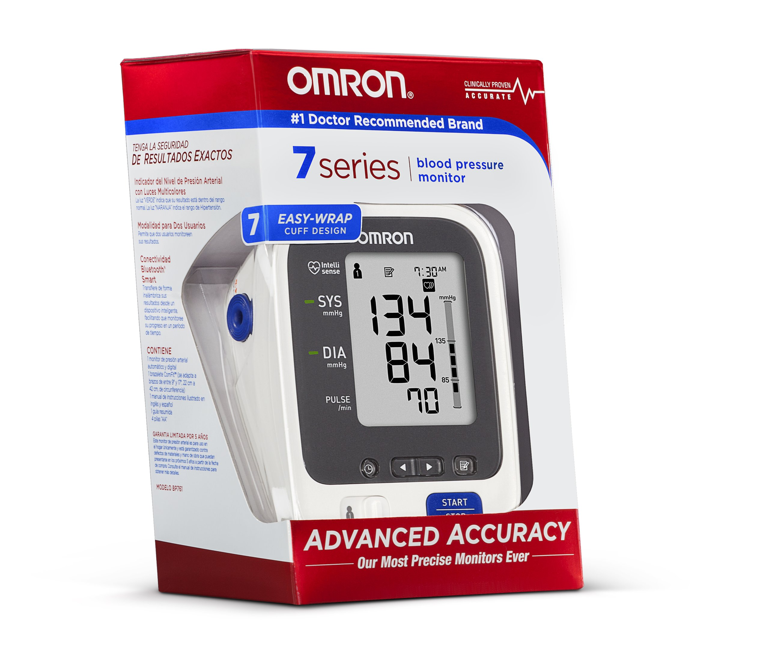 Omron 7 Series Upper Arm Blood Pressure Monitor with Two User Mode (120 Reading Memory) by Omron (Image #3)