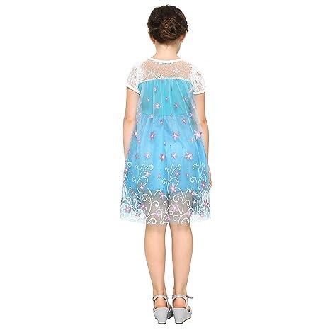 Katara Vestido de disfraz de cuento de hadas de Disney, para niñas de 7-8 años, color turquesa (1698-140-B): Amazon.es: Juguetes y juegos