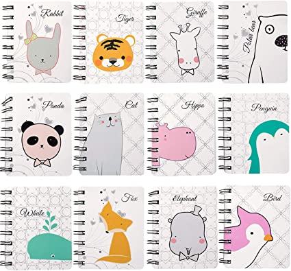 Czemo Libreta Pequeña de Bolsillo Cuaderno Pequeño Regalos Cumpleaños Niños Colegio, Pack de 12 (#1): Amazon.es: Oficina y papelería