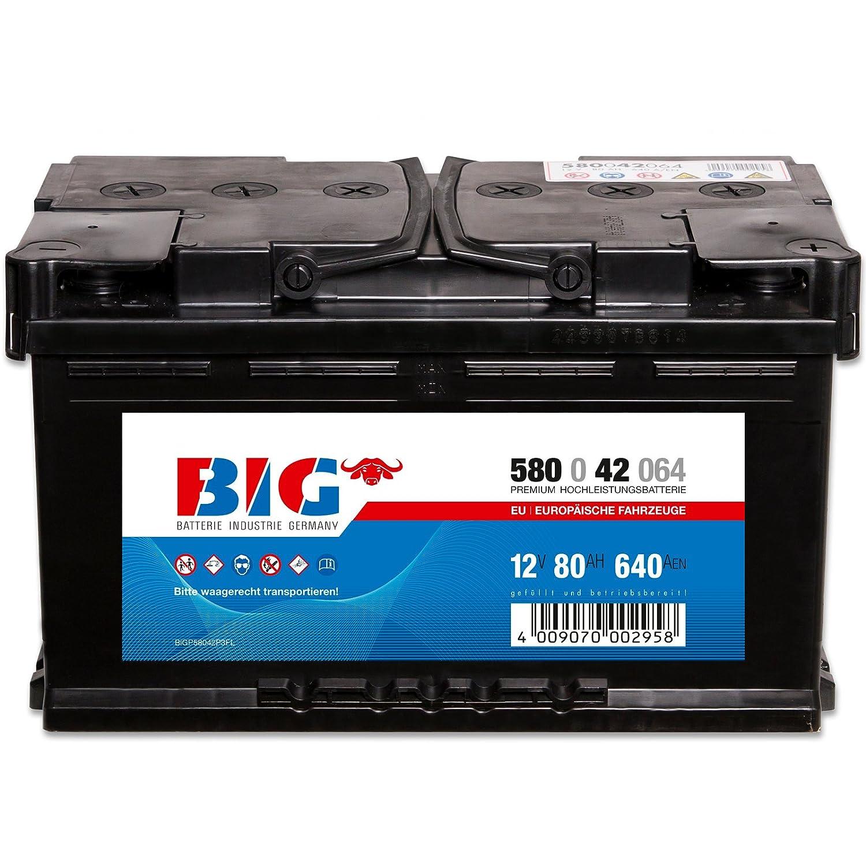 Autobatterie 12V 36Ah 300A BIG Premium DIN 53646 Starterbatterie