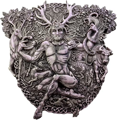 Ebros Gift Wicca Horned God Cernunnos Wall Plaque Masculine Divinity Neopaganism Wall Decor Sculpture