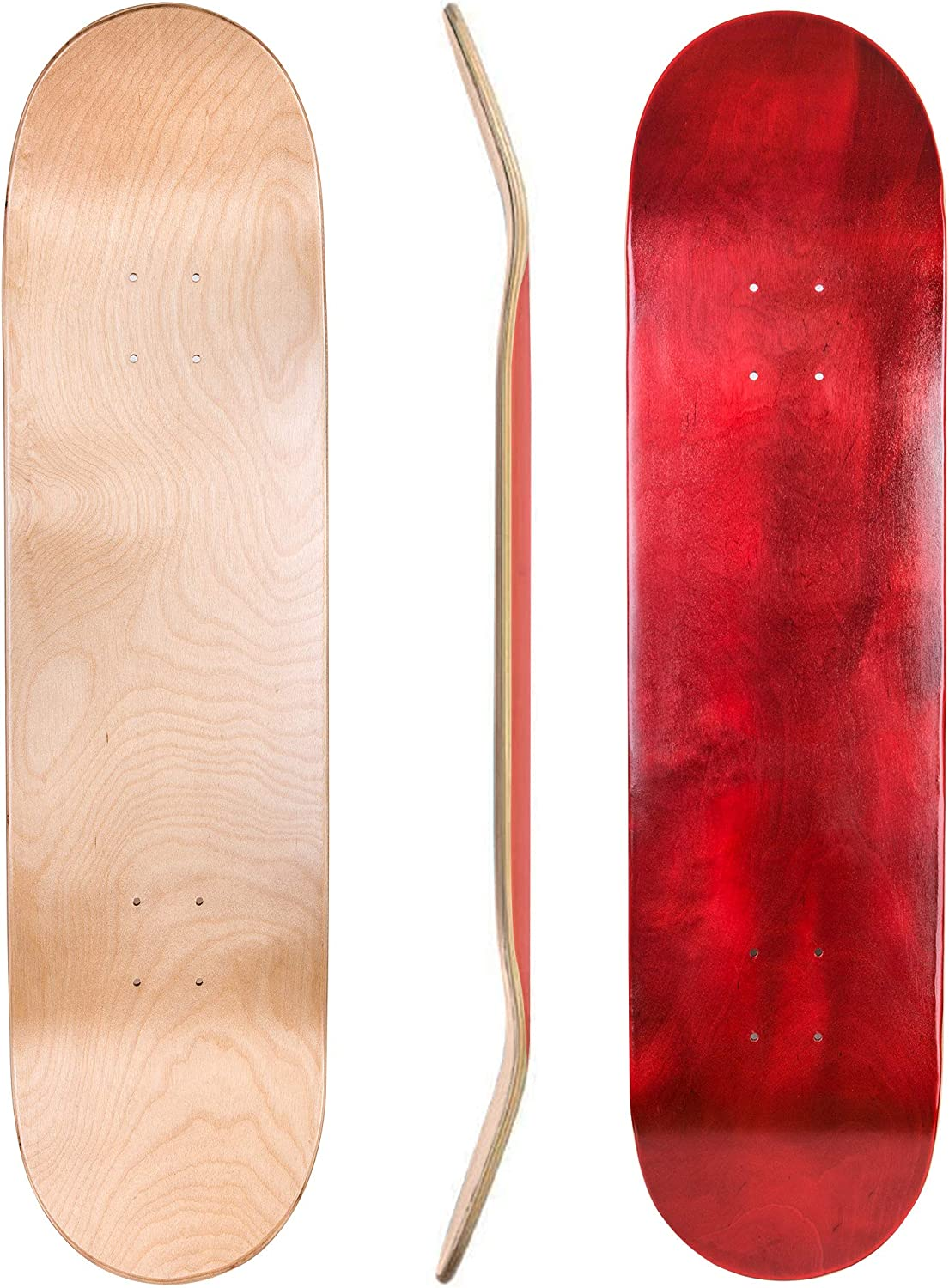 8.0 8.25 and 8.5 Inch Two Pack Combinations Cal 7 Blank Maple Skateboard Decks 7.75