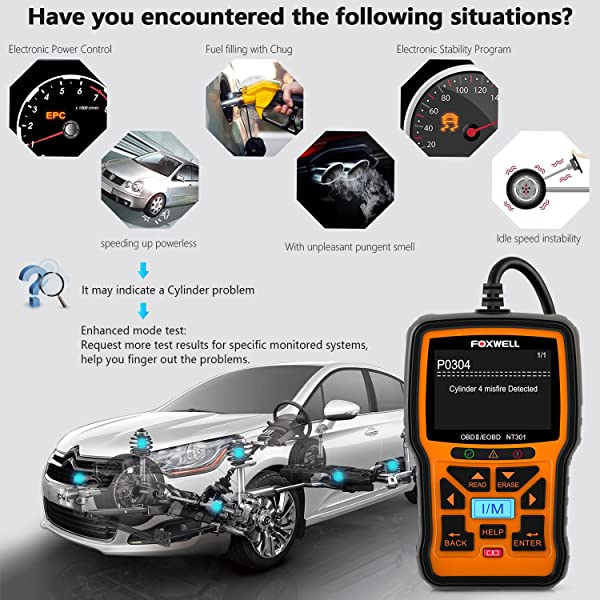 Foxwell NT301 is one of the best OBD2 Scanners for Resetting the Check Engine Light.