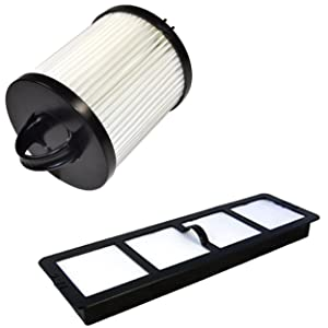 HQRP Dust Cup HEPA Filter and Exhaust Filter for Eureka AirSpeed PRO ALL FLOORS Rewind Pet AS1061A, AS1060 Upright Vacuum series Coaster