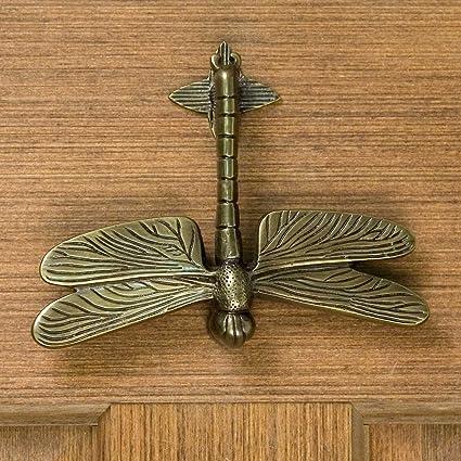 Attirant Casa Hardware Brass Dragonfly Door Knocker In Antique Brass Finish