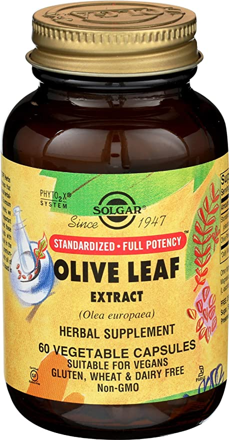 Solgar Olivo Extracto de hoja Cápsulas vegetales - Envase de 60 ...