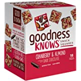 goodnessKNOWS Cranberry, Almond & Dark Chocolate Gluten Free Snacks Square Bars 18-Count Box