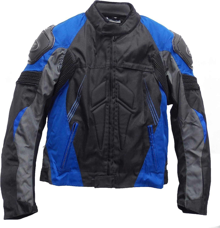 SM Sport Chaqueta Moto Hombre Textil con Protecciones y Forro extra/íble S, Gris
