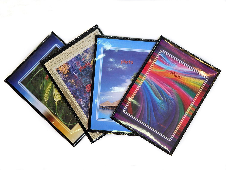 5 Foto Album Personalizzabili Fronte/Retro Portafoto a Tasche 10X15 - 40 Foto Copertina Morbida - Conf. 5 Pz.