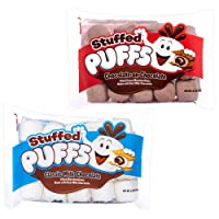 Stuffed Puffs - Variety 2 Pack, Marshmallows Made with Real Chocolate, Perfect for S'mores and Snacking, 1 bag of Original and 1 bag of Chocolate-on-Chocolate (8.6 oz each)