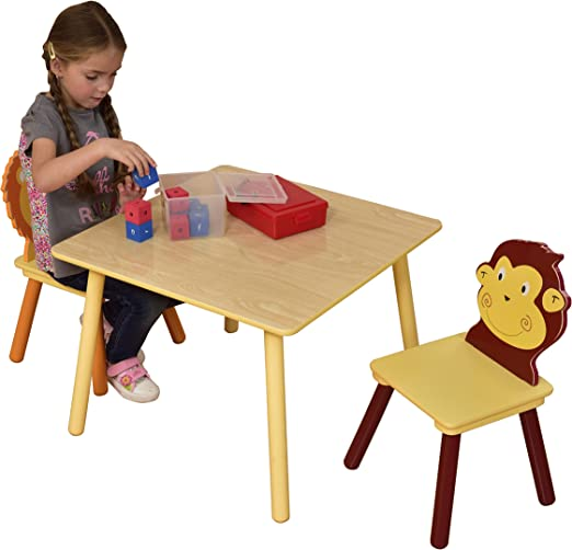 Liberty House Toys Juego de Mesa y 2 sillas para niños, Madera ...