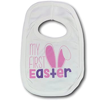 First easter bib pink babies first easter bib easter gift 1st first easter bib pink babies first easter bib easter gift 1st easter easter present new born negle Gallery