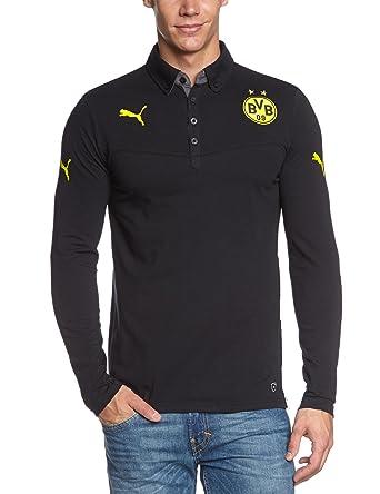 Puma Polo Shirt BVB Long Sleeve - Top de Manga Larga de Fitness ...