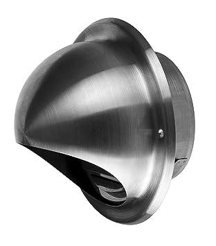 Lüftungsgitter Ablufthaube Edelstahl Ø 150 mm Wetterschutz-Gitter Abluft Zuluft