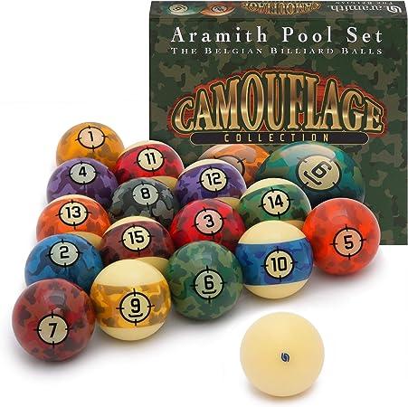 Aramith - Juego de Bolas de Billar de Camuflaje (5,7 cm): Amazon.es: Deportes y aire libre