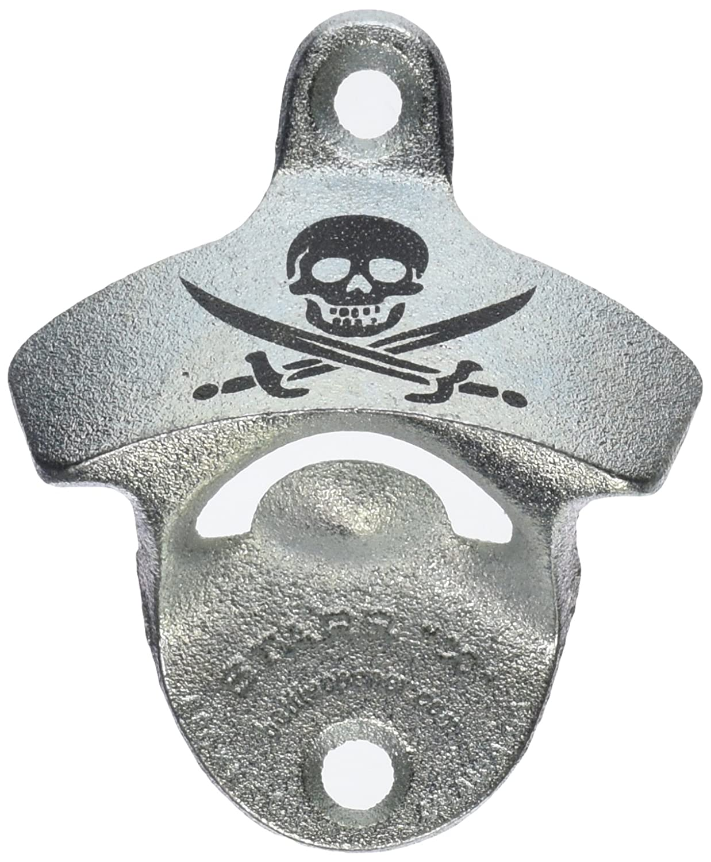 1 X Skull and Cross Bones Wall Mounted Classic Zinc Starr X Bottle Opener