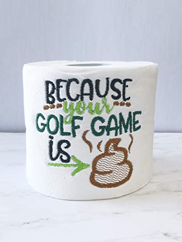 Golf Game Funny Novelty Toilet Paper Fathers Day Or Birthday Gift