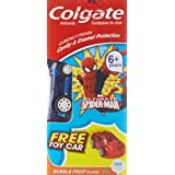 Colgate Toothpaste Ultimate Spider-man Bubble Fruit Flavor- 80 g with Free Toy Car