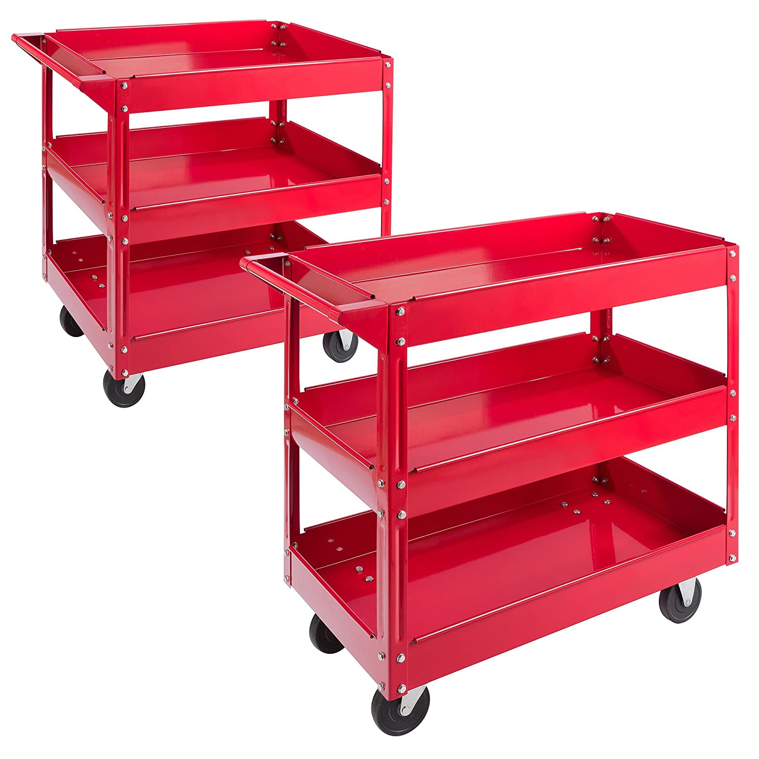 Arebos Workshop Tool Trolley with 2 or 3 levels / Large load capacity up to 220 lbs Canbolat Vertriebs GmbH