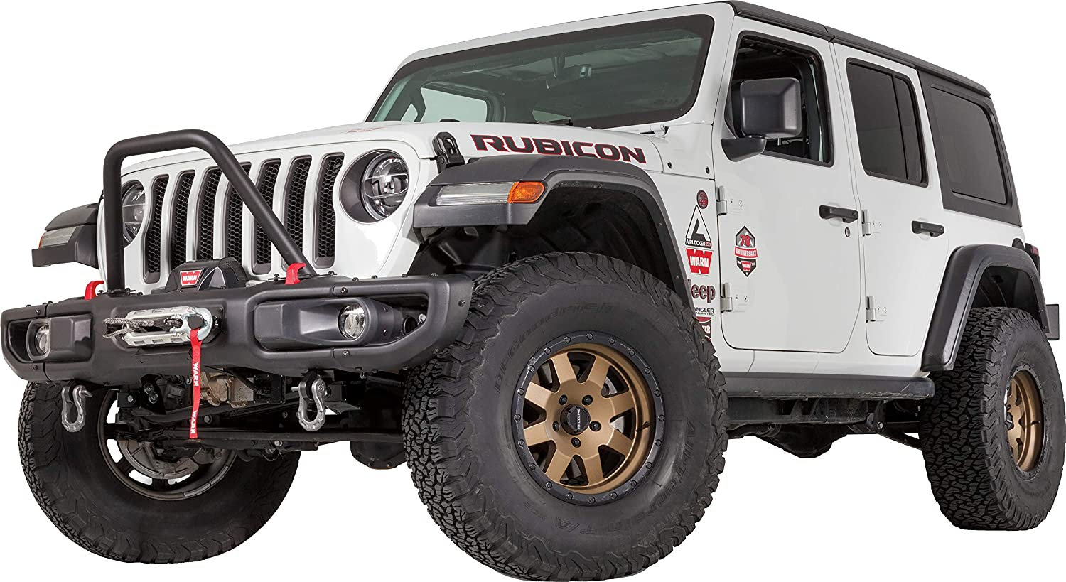 WARN 102346 Front Bumper Stinger Grille Guard Tube, Tall-Height for Jeep Gladiator JT & Wrangler JL