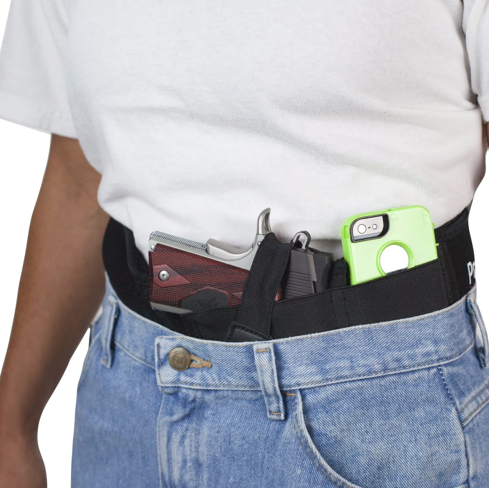 ProCore Belly Band Holster For Concealed Carry Waistband CCW Pistol Handgun Magazine Holder