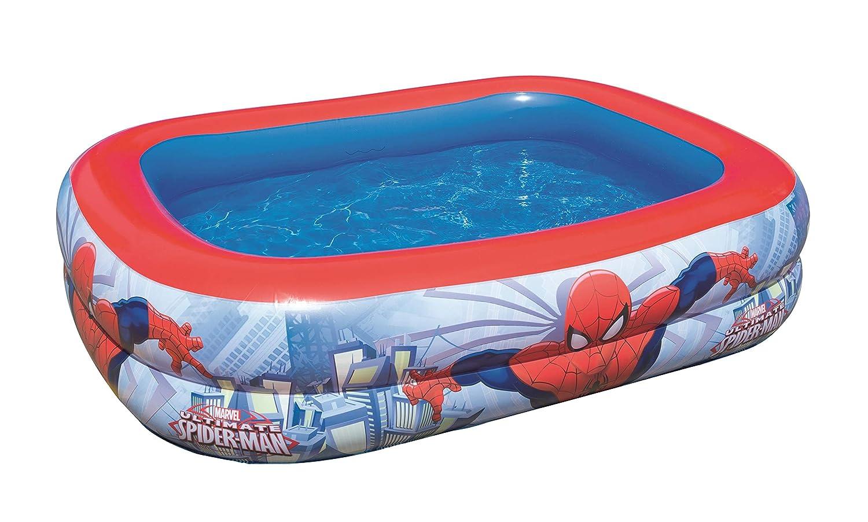 Color Baby - Piscina hinchable rectangular de Spiderman: Amazon.es ...