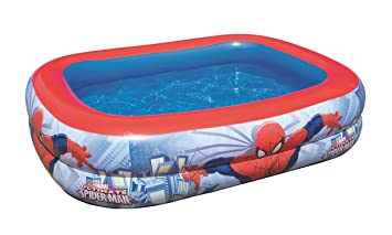 Color Baby - Piscina hinchable rectangular de Spiderman ...