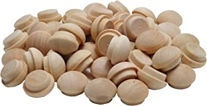 General Tools 312012 1/2-Inch Button Plugs, Hardwood, 50-Pack