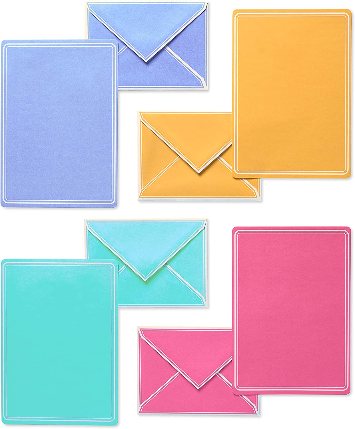 American Greetings Stationery Sheets and Envelopes, Pastel (80-Count)