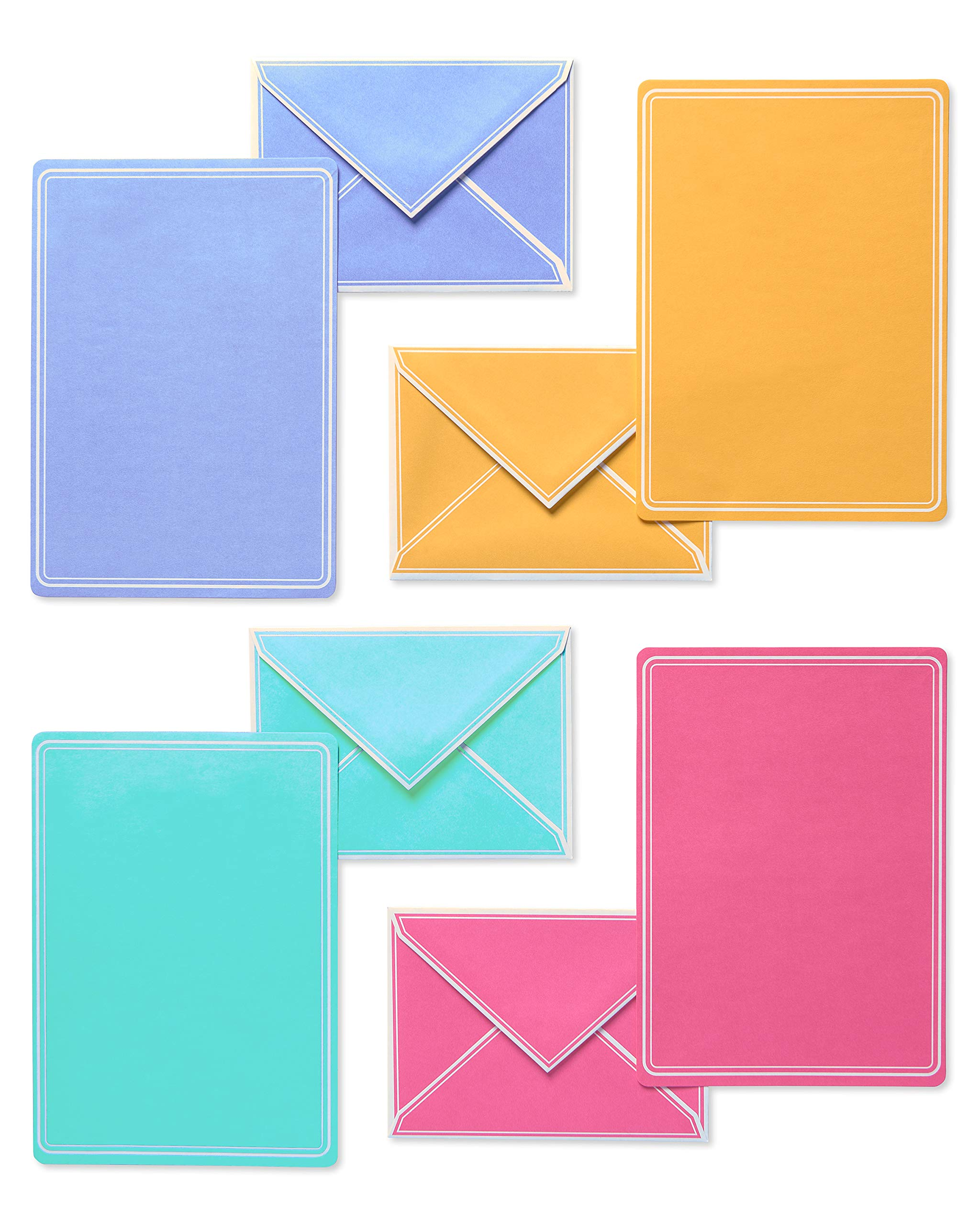 American Greetings Pastel Stationery Sheets and Colored Envelopes, 80-Count