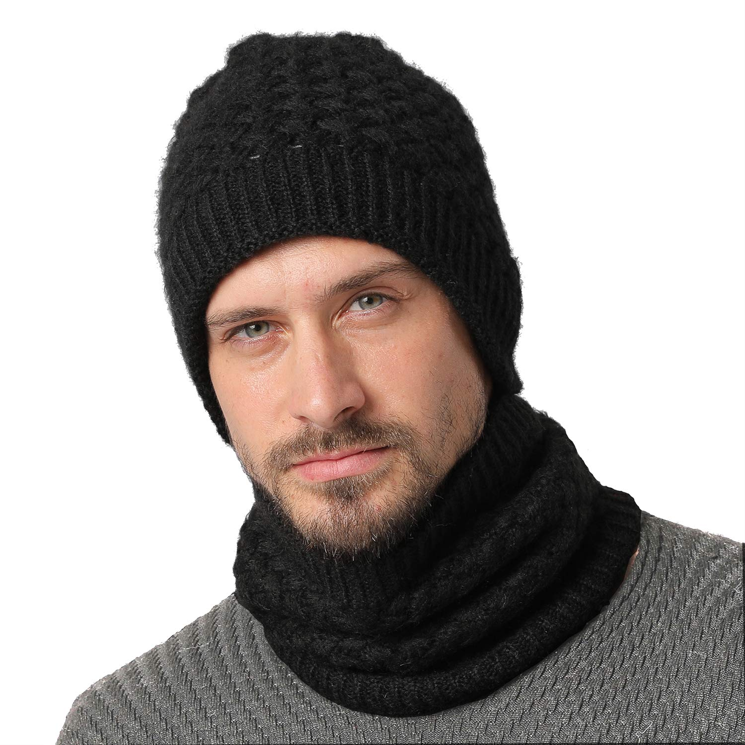40bb8c39e9244 NovForth Winter Fleece Neck Warmer Thick Heat Trapping Thermal Warm Scarf  Neck Gaiter for Mens Womens