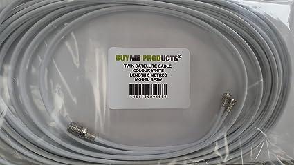 BUYME - Cable doble para conexión satélite (4 conectores twin F): Amazon.es: Electrónica